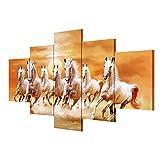 TYXQ Extra Große Leinwand Handgemalte Pferd Bild Leinwand Dekoration Malerei Zimmer Wandmalerei, with Borders, SizeA