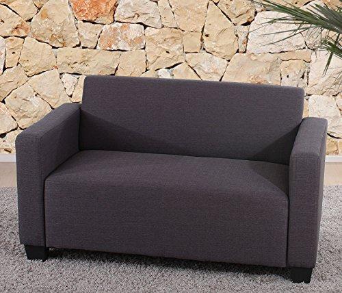 Sistema modulare Lione N71 salotto tessuto divano 2 posti ~ antracite