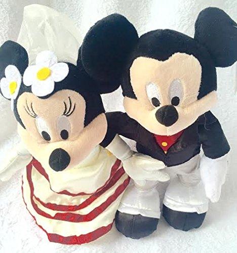 Disney Authentic, Mickey und Minnie Mouse Hochzeit Weiche Plüsch Puppe Spielzeug (Mickey-mouse-hochzeit)