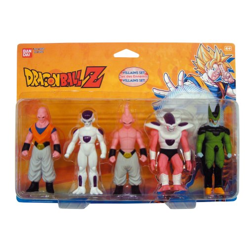 Dragon Ball - Set Heroes Y Villanos Buu 2Nd Stage + Freezer 4Th Stage + Buu 3Rd Stage + Freezer 3Rd Stage + Cell (Bandai)