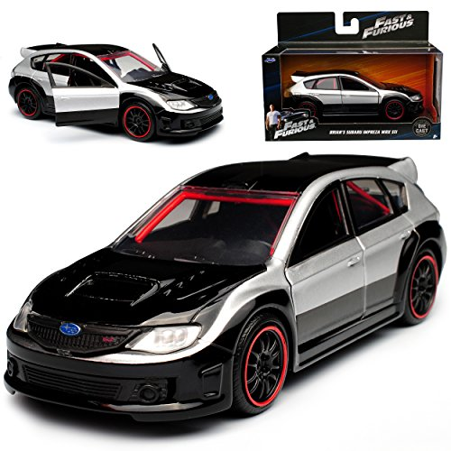 Jada Subaru Impreza WRX STI Silber Schwarz Brian O\'Connor Paul Walker The Fast and The Furious 1/32 Modell Auto