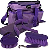Superb Quality Knight Rider Tack Kit Grooming Bag & Accessories (Lilac/Purple)
