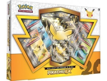 Coffret septembre 2016 - pikachu ex - asmodee - version française - carte pokemon