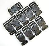 Steckschnalle Steckschließer gebogen schwarz 20mm (10 Stück)