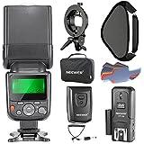 Neewer NW-670 TTL Flash Speedlite pour Canon DSLR, avec CT-16 Déclencheur Sans Fil, Softbox 40 x 40 centimètres Equipé de S-type Monture et 20 Filtres Couleur