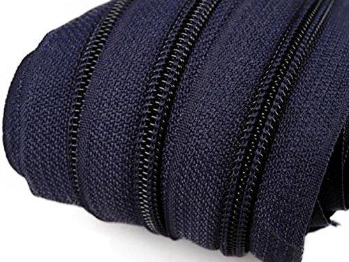 maDDma ® 6m Endlos-Reißverschluss 5mm mit 15 Zippern und Endstücke 330 Dunkelblau
