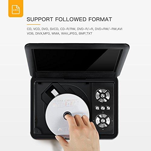 """APEMAN 7,5"""" Tragbarer DVD-Player mit 4 Stunden Akku Drehbarem Display Unterstützt SD-Karte USB AV OUT/IN Spiele-Joystick - 2"""