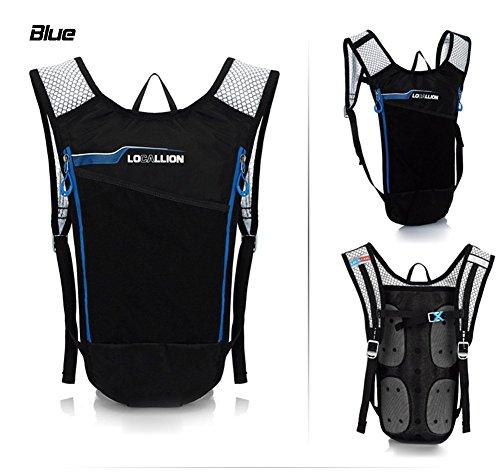 West Biking 6L Ultralight Radfahren Mini Bike Rucksack Fahrrad Tasche Rucksack für Camping Laufen Wandern Daypack Blau - blau
