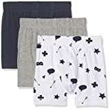 NAME IT Baby-Jungen Boxershorts Nmmtights 3P Grey Mel Noos, 3er Pack, Mehrfarbig (Grey Melange), 104