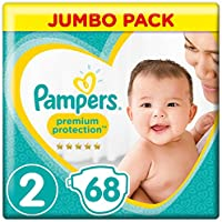 Pampers New Baby Diapers, Gr. 2 (3-6 kg), jumbo pack, 1 pack (1 x 68 Stück)