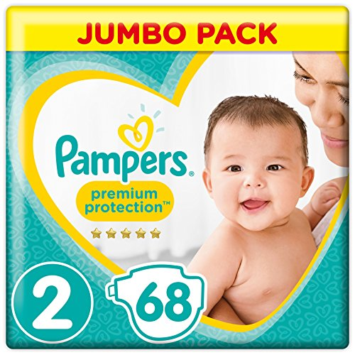 Pampers Premium Protection Pants, Gr.2 Mini, 3-6 kg Jumbopack (1 x 68 Stück)