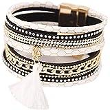 Bracelets, Oyedens BohêMe De Mode Multicouche Houppe En Cuir Charme MagnéTique Bracelet Rigide, ...
