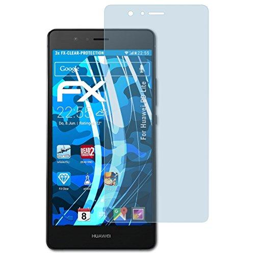 atFolix Schutzfolie kompatibel mit Huawei P9 Lite Folie, ultraklare FX Bildschirmschutzfolie (3X)