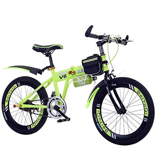 NBWE Bicicleta montaña Plegable niños Speed Mountain