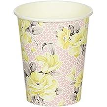 Talking Tables Truly Scrumptious Floral vasos de papel para una fiesta de té, rosa/amarillo (12unidades)