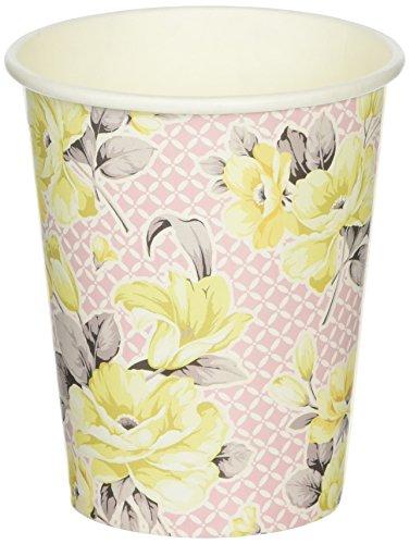 Preisvergleich Produktbild Talking Tables Truly Scrumptious Floral Pappbecher für eine Tee Party, Pink/Gelb (12Stück)