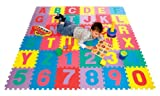 Soft Play Zone ABC Puzzle Play Mat for floors with storage bag.
