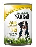 Yarrah Pate Huhn, Spirulina, Seetang 400 g Bio Hundefutter, 6er Pack (6 x 0.4 kg)
