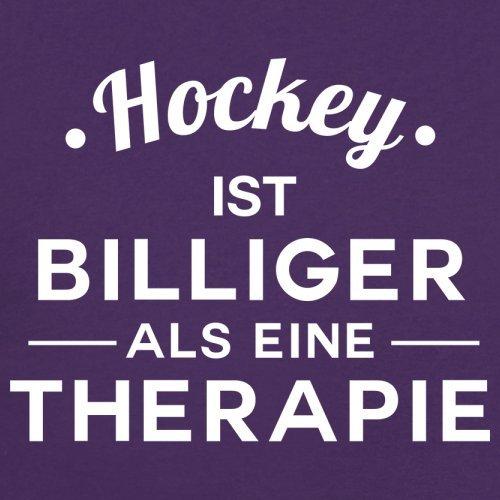 Hockey ist billiger als eine Therapie - Damen T-Shirt - 14 Farben Lila