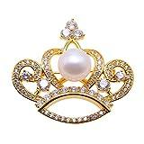 jyx corona broche Pin ramo de perlas de color blanco novia boda cumpleaños Regalos para mamá girl-golden