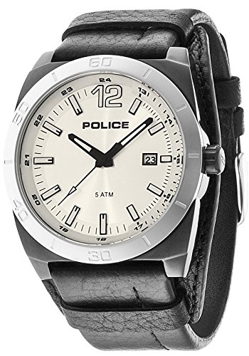 Police-Stampede-Mens-Quartz-Watch-with-Silver-Dial-Analogue-Display-and-Black-Leather-Strap-14107JSBS04