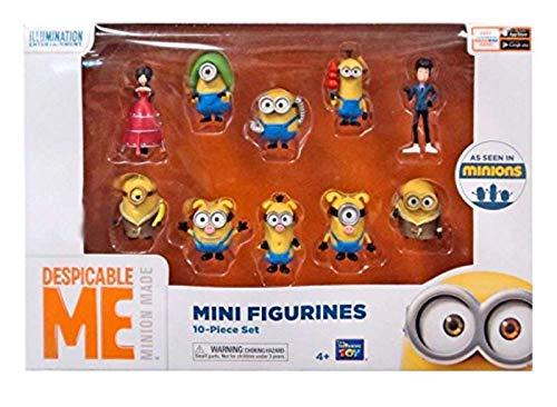 MTW Toys 3102100 - Original Minions, 10 verschiedene Spielfiguren, Größe je Figur ca. 5 cm