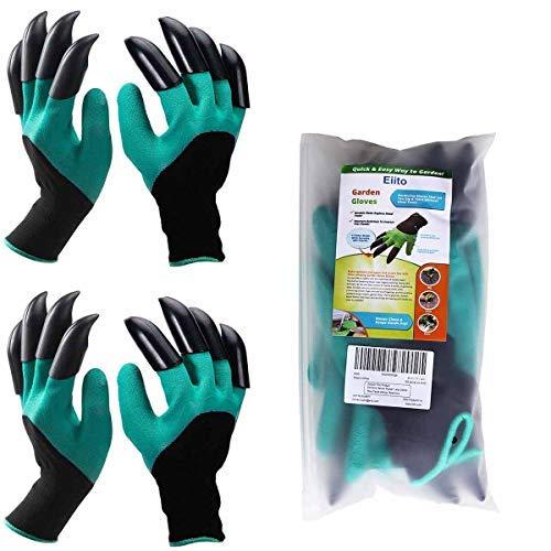 eiito 2x Garten Handschuhe, Größe M/L 17,8–21,6cm