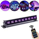 27W UV Beleuchtung Schwarzlicht 9LED x 3Watt ALICE DREAMS UV LED Bar Bühnenbeleuchtung mit Fernbedienung für Party Bar Karneval Halloween und Weihnachten (9Led)