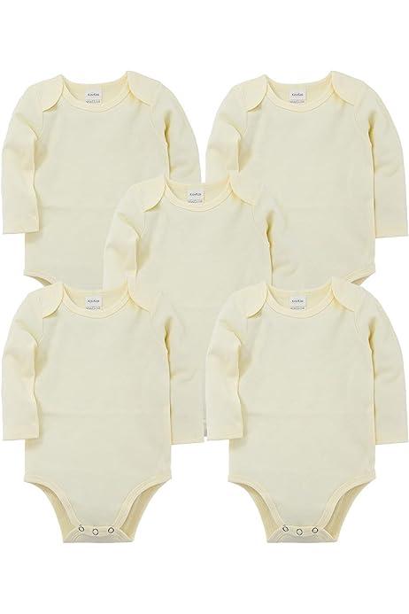 0/–24 mois kavkas Lot de 3 bodies solides /à manches longues pour b/éb/é gar/çon et fille en coton doux
