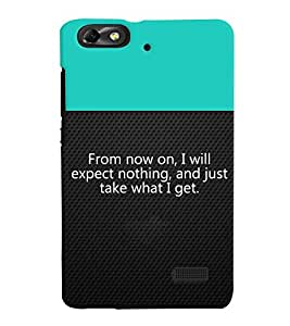 Fuson 3D Printed Quotes Designer back case cover for Huawei Honor 4C - D4311