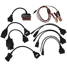 8pcs Conector Cables Adaptadores para Herramientas de Diagnóstico OBDII OBD2 de Coche