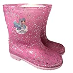 Girls Glitter Mermaid Wellington Boots Wellys Wellies Snow Mid Calf Shoes