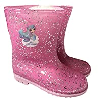 Girls Glitter Mermaid Wellington Boots Welly