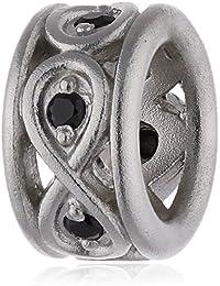 Endless 41353-2 - Abalorio de plata con circonita
