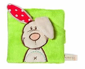 Nici My first Nici 33515 Tilly - Libro de peluche, diseño conejo, 11,5 x 12,5 cm importado de Alemania
