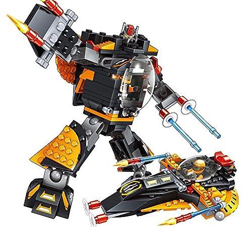 Kunstvolle Kind Roboter kleine Partikel gemeinsam in Verformung der Blöcke Blöcke über 6 Jahren Pädagogische Spielwaren 30100-04