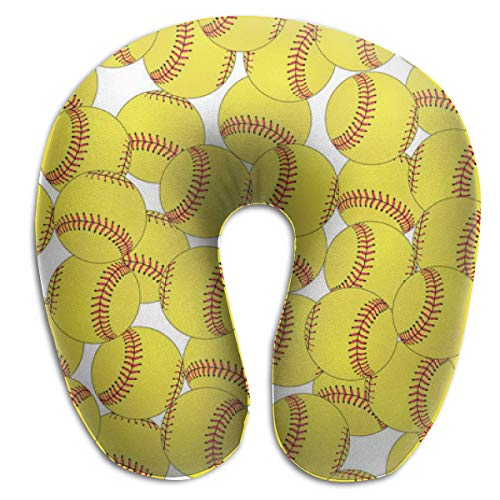 Travel U Shaped Pillow Reisekissen und Nackenkissen for Neck Pain Side Sleepers Comfortable Cervical Head Neck Support Pillows for Airplanes Home Office Car - (Softball Yellow) -
