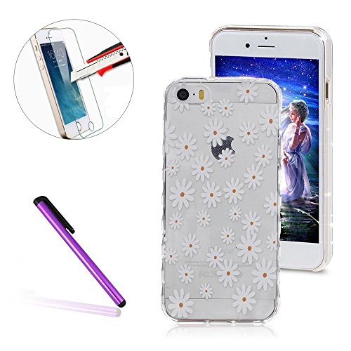 iPhone 6S Hülle,iPhone 6 Hülle,iPhone 6S Case,EMAXELERS Christmas Series Hard PC Case Phone Holster Transparent Handy-Tasche Hülle Cute Santa Claus Muster Glitter Flowing Bling Hülle Etui Schale Case  D White TPU 1