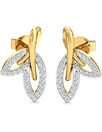 Stylori 18k (750) Yellow Gold and Diamond Stud Earrings