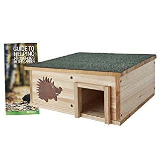 clifford james hedgehog house wooden garden nature hibernation box with waterproof pitched roof CLIFFORD JAMES Hedgehog House Wooden Garden Nature Hibernation Box with Waterproof Pitched Roof 51rEhKdFSWL
