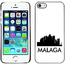 STPlus Málaga, España Postal con silueta del horizonte de la ciudad Carcasa Funda Rigida Para Apple iPhone SE / 5 / 5S