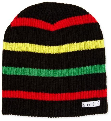 Neff Mütze Daily Stripe, Black/Rasta, One size, NF00007
