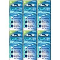 Oral-B - Hilo dental (sabor a menta, 50 hilos cortados, 6 unidades)