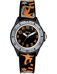 s.Oliver Jungen-Armbanduhr Analog Quarz Silikon SO-3110-PQ