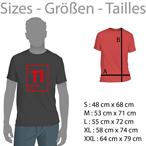 TEXLAB - Moustache Russia - Herren T-Shirt Schwarz