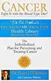 Cancer: Fight It with the Blood Type Diet (Eat Right for Your Type Health Library) by Dr. Peter J. D'Adamo (2004-08-03)