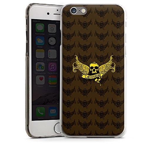 Apple iPhone 4 Housse Étui Silicone Coque Protection Or Crâne T'inquiète CasDur transparent