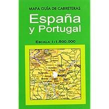 Mapa guía de carreteras España y Portugal