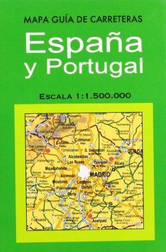 Mapa guía de carreteras España y Portugal por Rafael Sanz Sáez