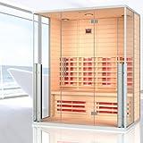 """Infrarotkabine """"Monaco"""" Infrarot Sauna für bis zu 4 Personen Wärmekabine Infrarotsauna"""